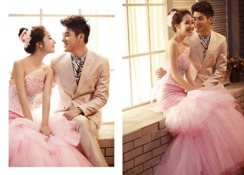 韩式婚纱照新娘发型繁多